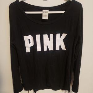 Black & white Victoria's Secret 'PINK' shirt
